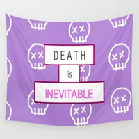death Wall Tapestries featuring Death by thatgirl25