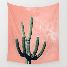 Pink Cactus Boho Mexican Wall Tapestry