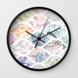 Oval shapes of marble Wall Clock