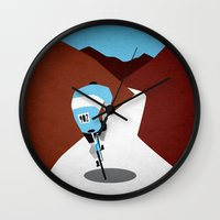 cycling Wall Clocks featuring Cycling by Osvaldo Casanova