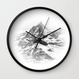 Blurry Mountain Wall Clock