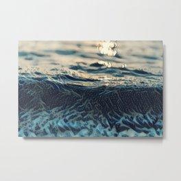 Poetic Waves Metal Print