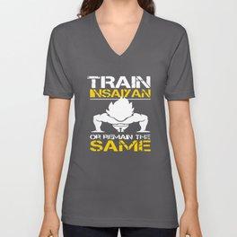 Train Insaiyan Remain Same Dragon Gym Weights Workout Goku t-shirts Unisex V-Neck