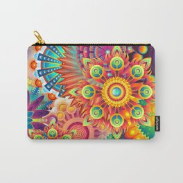Funky Retro Pattern Abstract Carry-All Pouch