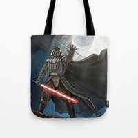 death star Tote Bags featuring Death Star by Laura-A