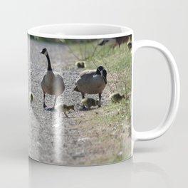 Canada Goose Family going for a Walk Coffee Mug