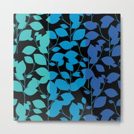 Cobalt Foliage Metal Print