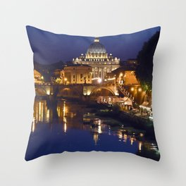 St. Peter's Basilica in Rome Throw Pillow