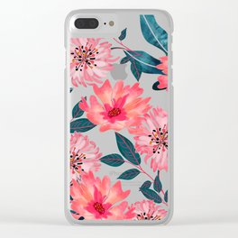 Yours Florally Clear iPhone Case