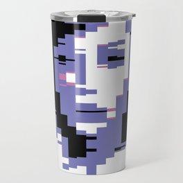 8 Bit Portrait of a Girl Travel Mug