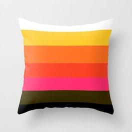 Earth and Summer Sky - Color Strips - Colors of Travel Throw Pillow