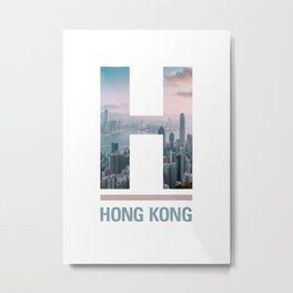 H-ong Kong Metal Print
