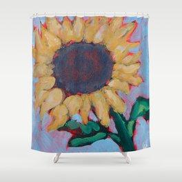 Blue Sunflower Shower Curtain