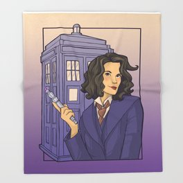 13th Doctor Throw Blanket