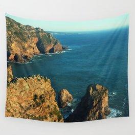 Cabo da Roca, Portugal Analog 6x6 Kodak Ektar 100 (RR 160) Wall Tapestry