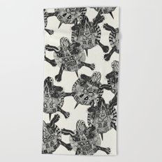 turtle party  Beach Towel