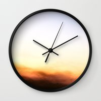 south africa Wall Clocks featuring Memory Dream // South Africa by Claire Elizabeth Stringer