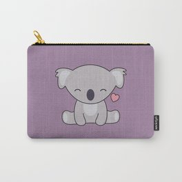 Kawaii Cute Koala Bear With Heart Carry-All Pouch