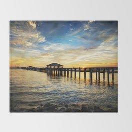 Biloxi Bay Sunset Throw Blanket