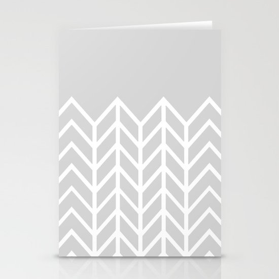 LACE CHEVRON (GRAY) Stationery Cards