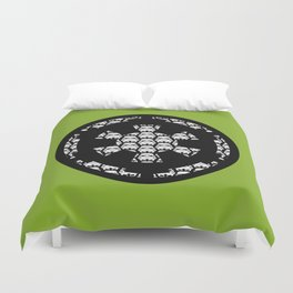Imperial Cog Stormtroopers on Pea Green Duvet Cover