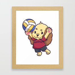Dog puppy volleyball sports gift Framed Art Print
