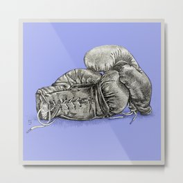 Boxing gloves blue Metal Print