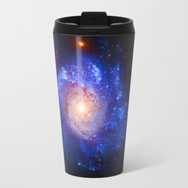 Pinwheel Galaxy Blue Travel Mug