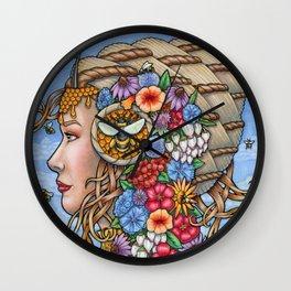 Beatrix Bee Queen by Bobbie Berendson W Wall Clock