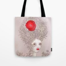 Rose in hair Tote Bag