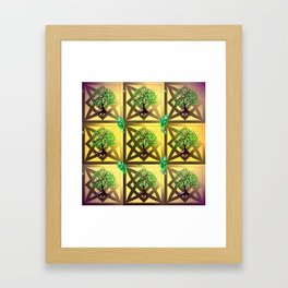 Celtic Tree Pattern Framed Art Print