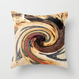 Swirl 07 - Colors of Rust / RostArt Throw Pillow