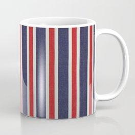 De rayas azules y rojas Coffee Mug