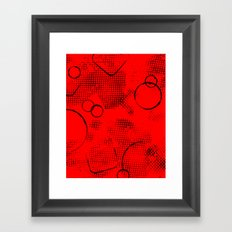 Painted Texture #26 Augmented in Red Framed Art Print