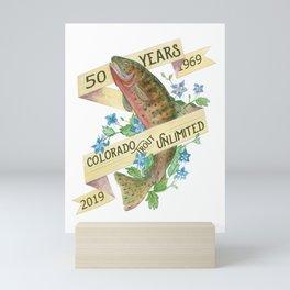 50th Anniversary Colorado Trout Unlimited Mini Art Print