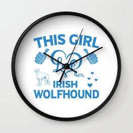 This Girl Love Her Irish Wolfhound wb Wall Clock
