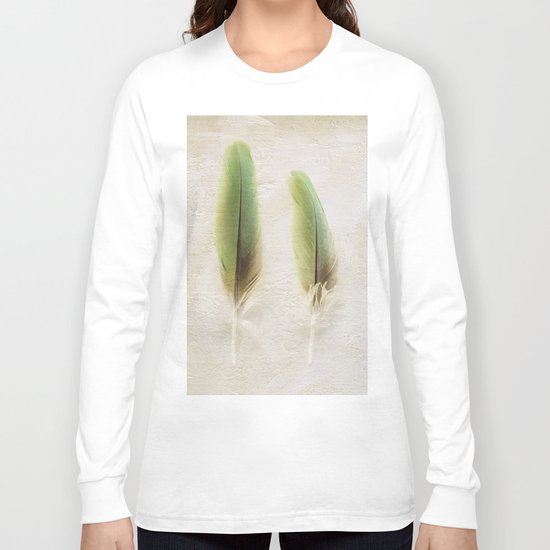 Green Feathers Long Sleeve T-shirt