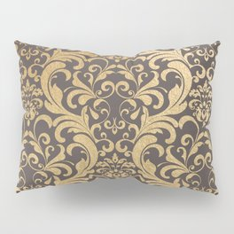 Gold swirls damask #1 Pillow Sham