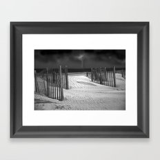 Storm on the Horizon Framed Art Print