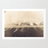nan lawson Art Prints featuring mt. lawson, kananaskis country, alberta by wild strawberry