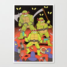 TURTLES FIGHTERS - REVENGE Canvas Print