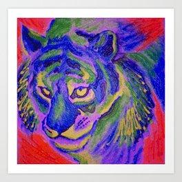 Tiger in Cool Hues Art Print