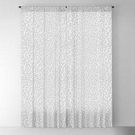Snow Leopard Print Blackout Curtain