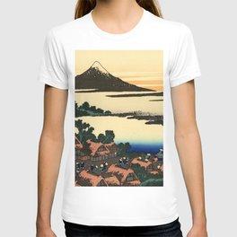 """Hokusai (1760–1849) """"Dawn at Isawa in Kai Province"""" T-shirt"""