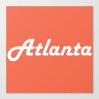 atlanta Canvas Prints featuring Atlanta by AE Interiors