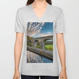 Chirk Aqueduct And Viaduct Unisex V-Neck