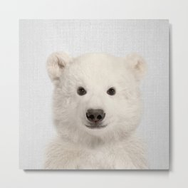 Polar Bear - Colorful Metal Print