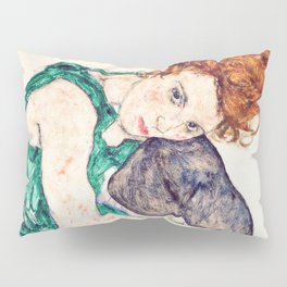 Egon Schiele - Seated Woman with Bent Knee Pillow Sham