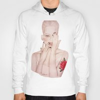 valentine Hoodies featuring Valentine by Amy Bannister