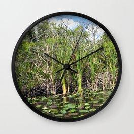 Everglades Near Key Largo Florida Wall Clock